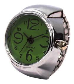 Relógio Feminino De Dedo Anel Mostrador Quartz Verde