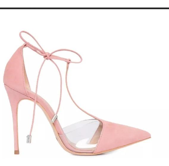 Sapato Feminino Scarpin Cristal Laço Pri - Envio Até 4 Dias