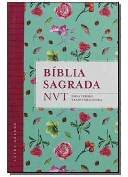 Biblia Sagrada Nvt Flores Tiffany Letra Grande