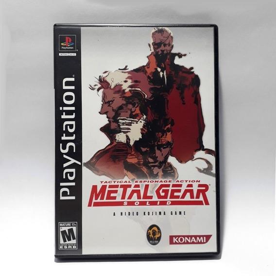 Jogo Metal Gear Solid Ps1 Original Americano Long Box Raro!