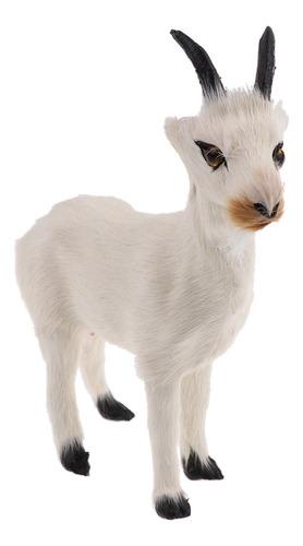 Imagen 1 de 11 de Figuras De Animales De Cabra Real Stanidng Faux Modelo