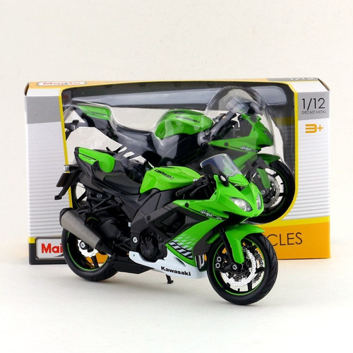 Imagen 1 de 5 de Moto De Colección Nueva Kawasaki Zx-10r  Escala 1:12 Maisto