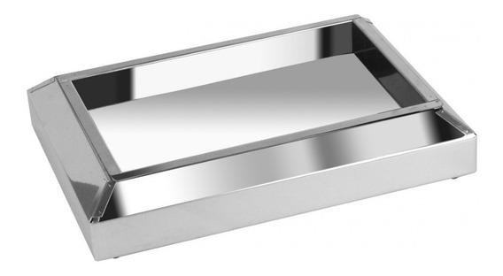 Cinzeiro De Chão Em Aço Inox - Bituqueira Kit 02 Unid