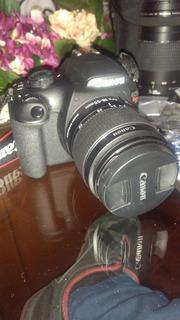 Camara Canon Rebel T5 Eos 1200d+lente 18-55 Mm Y 75-300 Mm