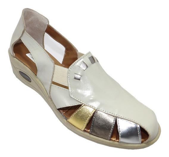 Sandalias De Cuero Dama Verano-calzados Union- Art 513