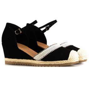0a8b7bb809 Sandalia Anabela Espadrille Bebece Feminino Sapatos - Sapatos no ...