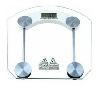 Balança De Chão De Banheiro Vidro Temperado Digital 180kg