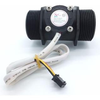 Sensor Flujo De Liquido Caudalimetro 5-150lpm Tubería 1.5 Pu