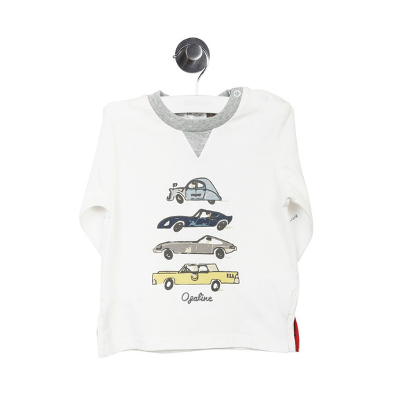 Polera Autos Off White Boy Opaline