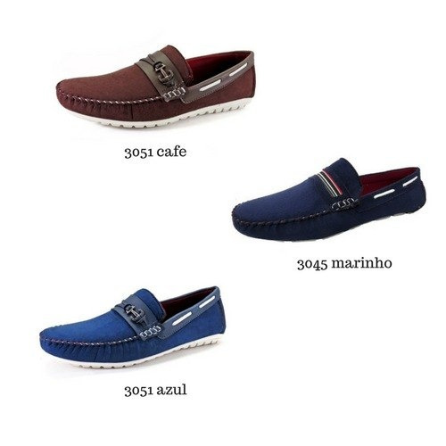 b249a89ee Sapato Masculino Mocassim Kit C/3 Atacado - R$ 145,00 em Mercado Livre