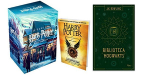 Box Coleção Harry Potter + Livro 8 + Box Biblioteca Hogwarts
