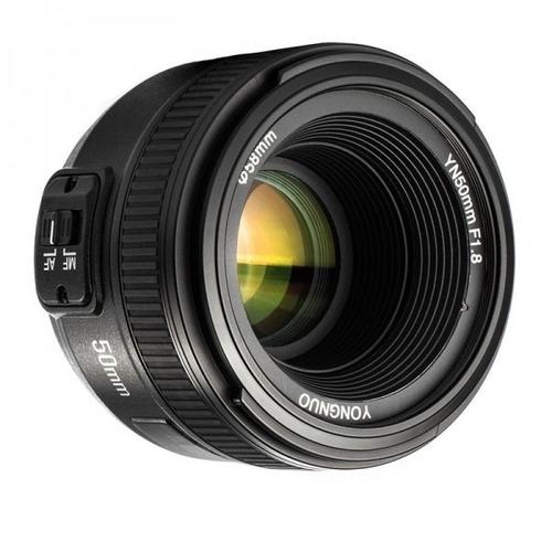 Lente Yongnuo Yn-50 N Af/ M De 50mm F1.8n Para Nikon Con Motor Integrado Para Autofoco + Envío