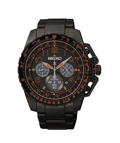 Relógio Seiko Cronógrafo Solar Prospex Preto/laranja Crono