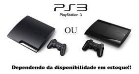 Ps3 Playstation 3 Play 3 Slim Ou Super Slim + 03 Jogos