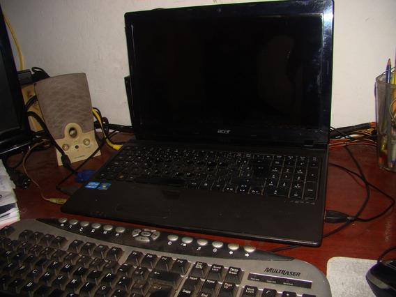 Notebook Acer Aspire 5750-6 Br858, Detalhes: Tela Trincada