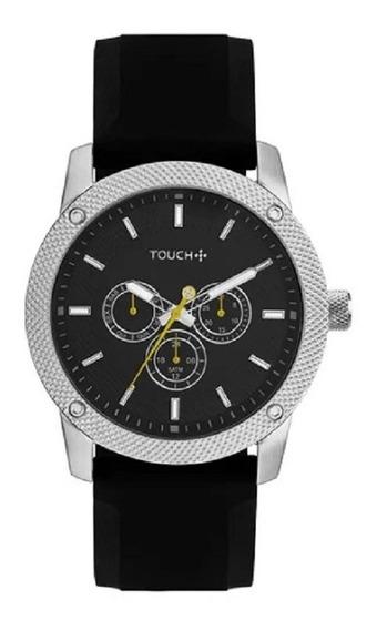 Relógio Touch Masculino Prata