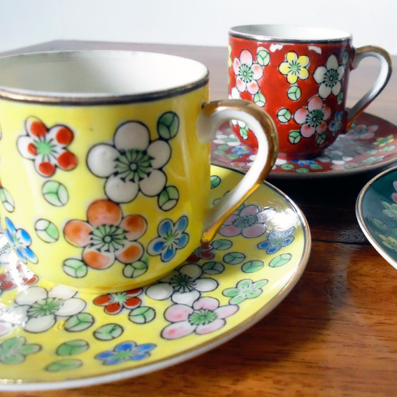 Tazas Antiguas De Porcelana Japonesa