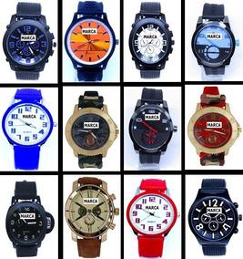 Kit 10 Relógios Masculino Feminino + 10 Baterias + Brindes