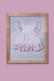 Vestido Petit Cherie Baby Seda Quadriculada Lilas