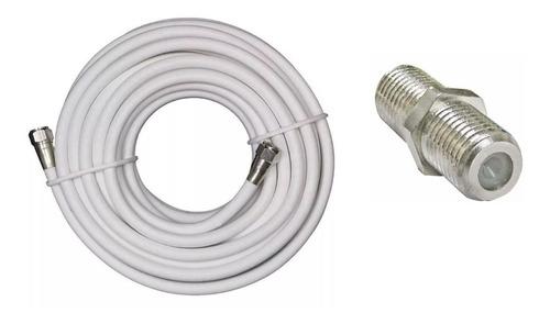 Imagen 1 de 4 de Cable Coaxial 20 Mts Alta Calidad + Conectores + Union