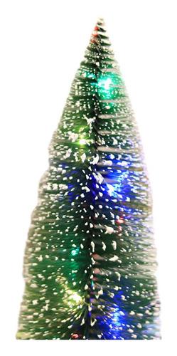 Imagen 1 de 6 de Decoración De Escritorio Mini Árbol De Navidad Led 25cm