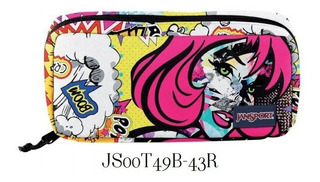 Cartuchera Jansport Medium Accessory Pouch Pop Art Original