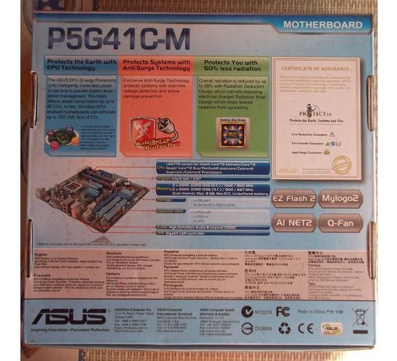 Kit Placa Mãe Asus P5g41 + Dual Core E5500 + 2gb Ddr3 1333