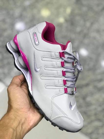 Nike Shox 4 Mola Rosa C/plateado