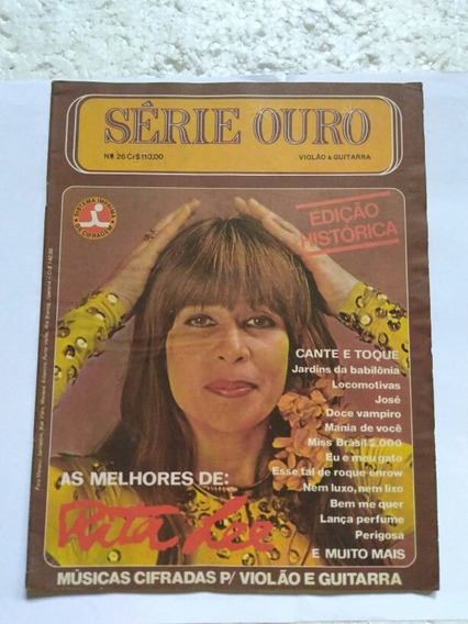 Revista Serie Ouro Violao Guitarra Rita Lee
