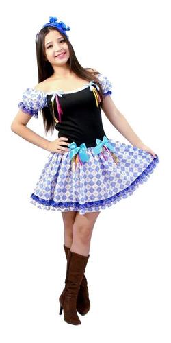 Vestido De Quadrilha  Festa Junina Caipirinha Junino Adulto