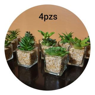 Mini Suculentas Planta Artificial Con Maceta