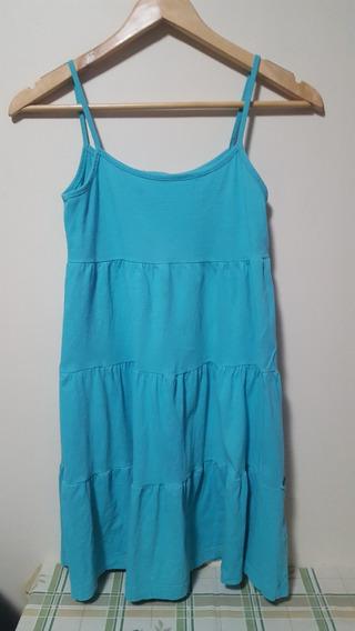 Vestido Infantil Feminino Azul Alcinha