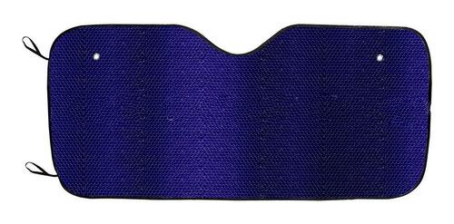 Parasol Cortina Parabrisas Grande Azul Metalizado Plegable