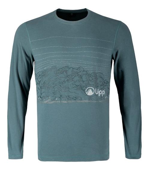 Polera Hombre Lippi Landscape Long Sleeve Cotton T-shirt Jad