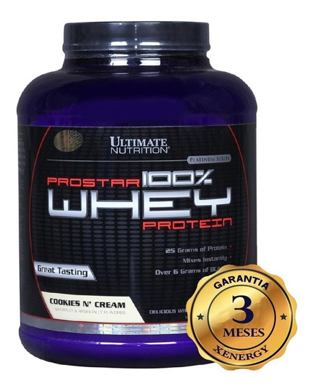 Prostar 100% Whey Ultimate Nutrition 5lb Suplemento Fitness