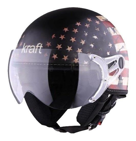 Capacete Aberto Kraft Usa Fosco Harley Drag Shadow Com Nf