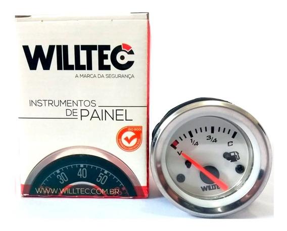 Relógio Indicador Marcador De Combustivel 12v 52mm Willtec