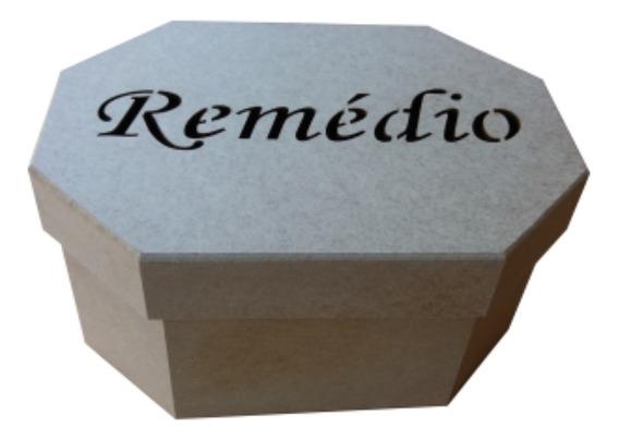 Caixa De Remédio Oitavada Mdf Cru 24x17x12cm