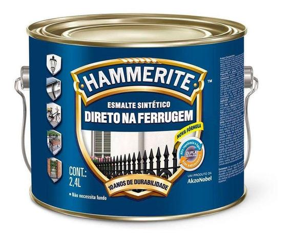Esmalte Hammerite Direto Na Ferrugem Branco Galão 2,4 Litros