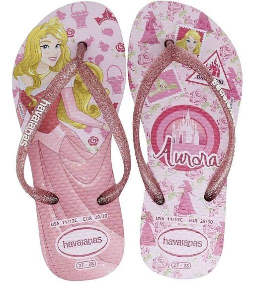 Chinelo Infantil Havaianas Princesas Aurora Feminino