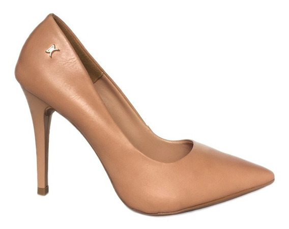Scarpin Confortavel Sapato Feminino Social Nude Napa
