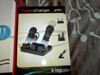 Estación De Carga 3 En 1 Ps3 Play Move Bluetooth $5