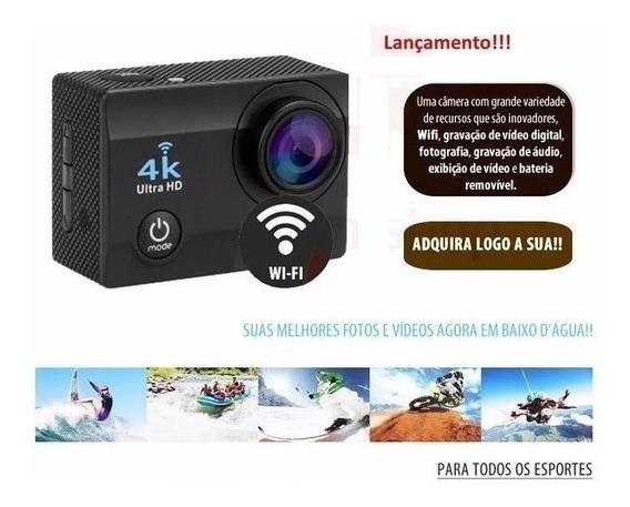 Action Camera Cam Go Sports Esportiva Wi-fi 4k Capacete