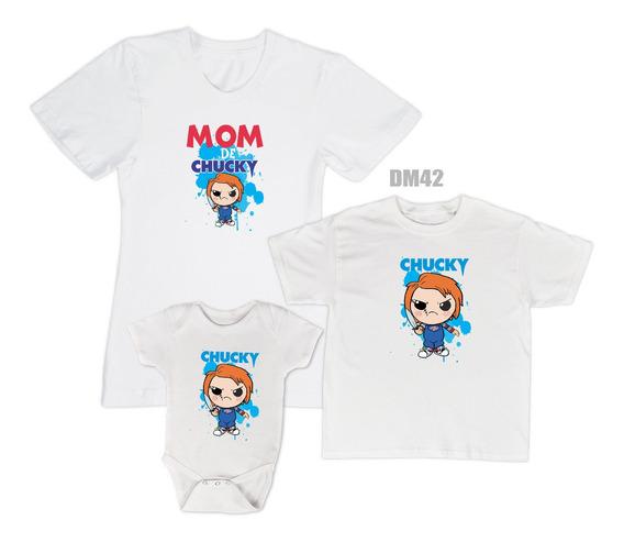 Dúo Playeras Personalizadas Mama E Hijo. Mama De Chucky