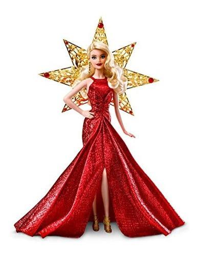 Imagen 1 de 7 de Barbie Muñeca De Vacaciones 2017, Rubia Con Vestido Dorado