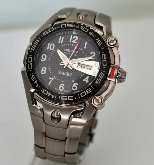 Relógio Orient Flytech Titanium Automático 469ti001
