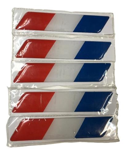 Sticker Adhesivo Resina Bandera Francia Laterales Auto.x2 B3