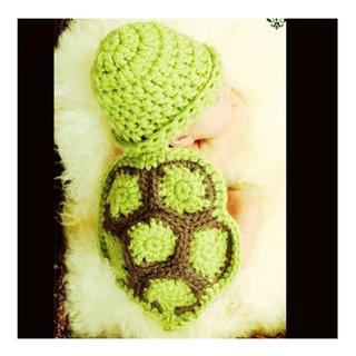 Roupinha De Tartaruguinha Para Ensaio Fotográfico Bebê 0-3m