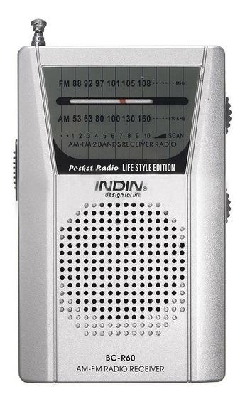 Rádio Receptor Indin Bc-r60 Am/fm C/ Antena Telescópica
