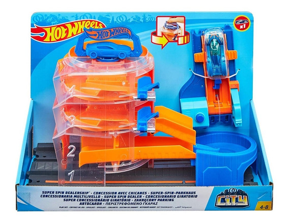 Pistas Hotwheel Super Concesionario Pista Carros Hot Wheels